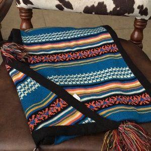 Accessories - Blanket scarf /wrap with pom poms